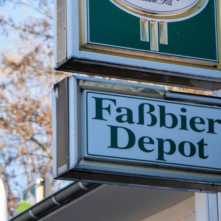 Abbildung Schild Faßbier Depot